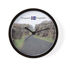 Edge of Thingvellir Wall Clock