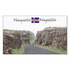 Edge of Thingvellir Rectangle Decal