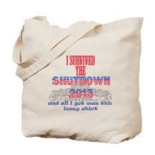 I Survived the Government Shutdown 2013 Tote Bag