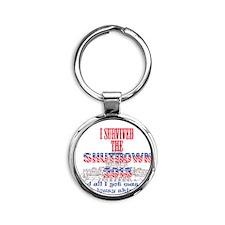 I Survived the Government Shutdown  Round Keychain