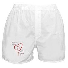 Black Russian Heart Belongs Boxer Shorts