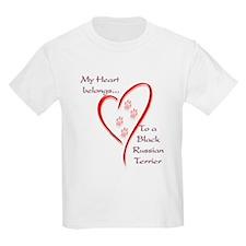 Black Russian Heart Belongs Kids T-Shirt