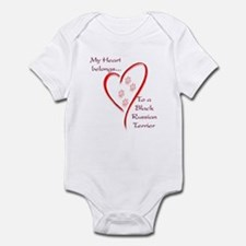 Black Russian Heart Belongs Infant Bodysuit