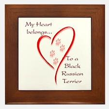 Black Russian Heart Belongs Framed Tile