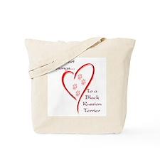 Black Russian Heart Belongs Tote Bag