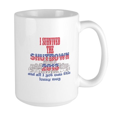 I Survived the Government Shutdown 2013 Mugs