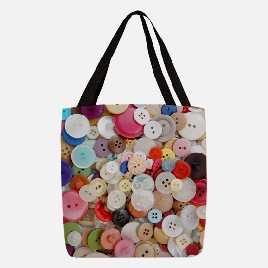 Sew Pretty Billions of Buttons Polyester Tote Bag