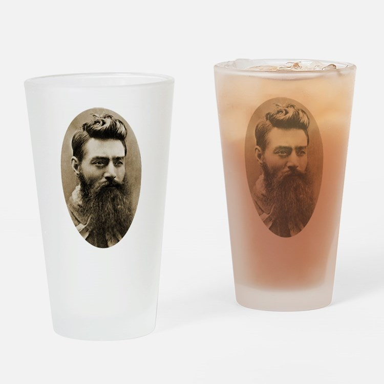Ned Kelly Drinking Glass