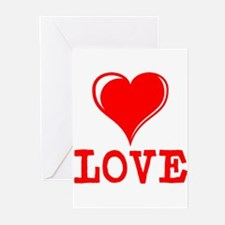 LOVE HEART Greeting Cards