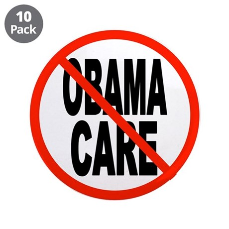 "OBAMACARE GRAVE 3.5"" Button (10 pack)"