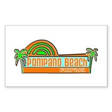 Pompano Beach, Florida Rectangle Decal