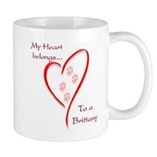 Brittany Heart Belongs Coffee Mug