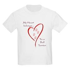 Bull Terrier Heart Belongs Kids T-Shirt