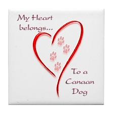 Canaan Heart Belongs Tile Coaster