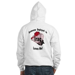 Some1 in Iraq loves me! (OnBack) Hoodie