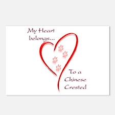 Crested Heart Belongs Postcards (Package of 8)