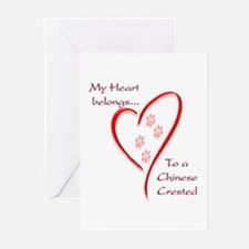 Crested Heart Belongs Greeting Cards (Pk of 10