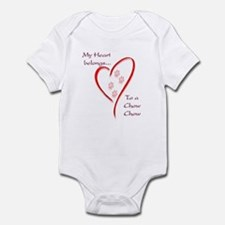 Chow Heart Belongs Infant Bodysuit