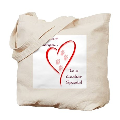 Cocker Heart Belongs Tote Bag