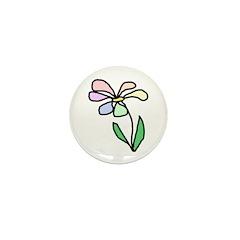 Flower Mini Button (10 pack)
