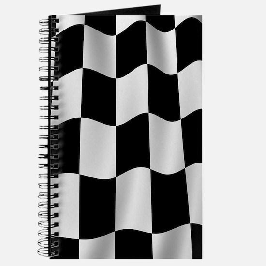 Black Racing Flag Checkerboard Journal