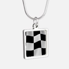 Black Racing Flag Checkerboard Necklaces