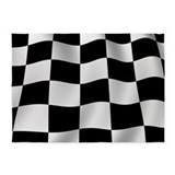 Racing flag 5x7 Rugs