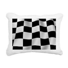 Black Racing Flag Checkerboard Rectangular Canvas