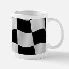 Black Racing Flag Checkerboard Mugs