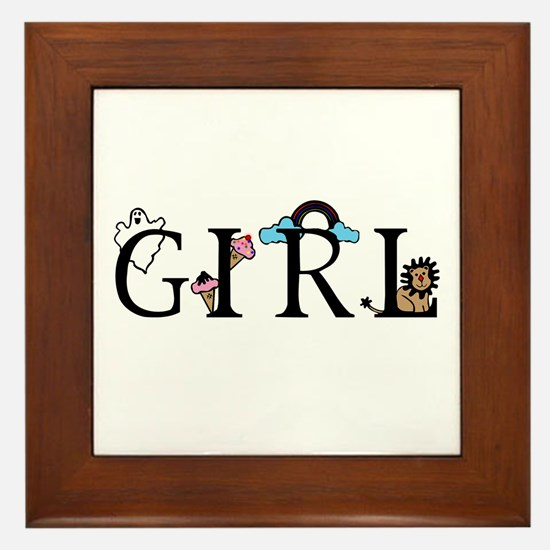 Girl Framed Tile