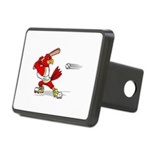 Cardinal Baseball Player Hitch Cover