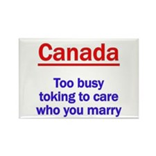 Marriage and Pot, Canadian St Rectangle Magnet