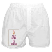 Fight Cancer And Eat Cupcakes Boxer Shorts