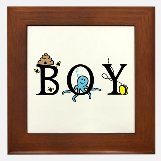 Boy Framed Tile