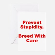Breed With Care Greeting Cards (Pk of 10)