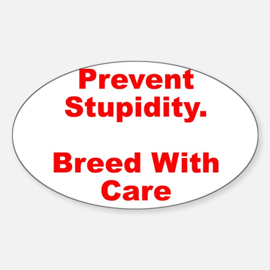 Breed With Care Oval Decal