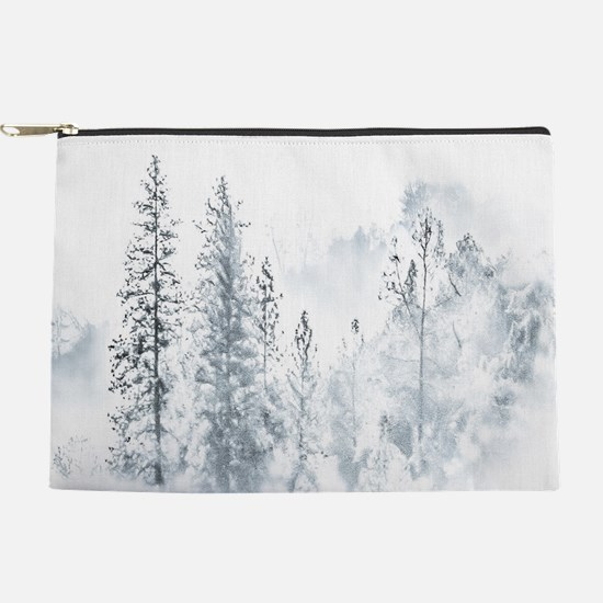 Winter Trees Makeup Pouch