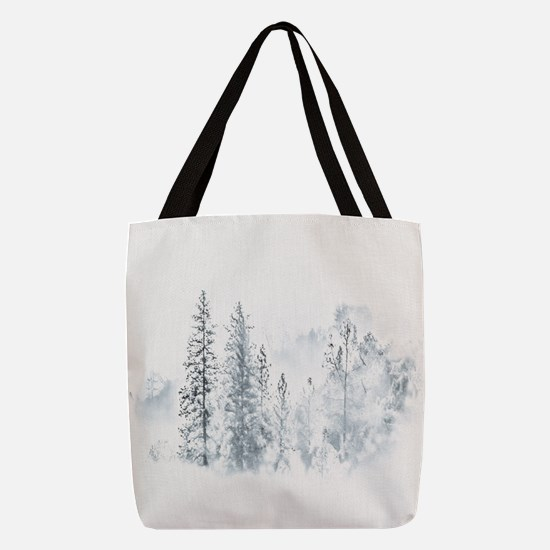Winter Trees Polyester Tote Bag