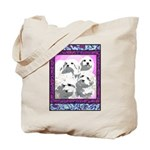 Maltese Mod Dog Tote Bag
