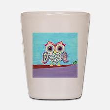 Eastern Owl on branch Shot Glass