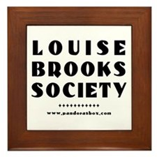 Funny Louise brooks Framed Tile