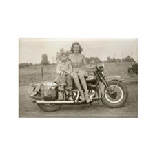 Harley Girl Rectangle Magnet