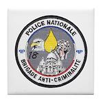 National Police France Tile Coaster