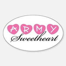 Army Sweetheart Oval Decal