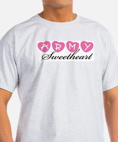 Army Sweetheart Ash Grey T-Shirt