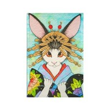 Courtesan Bunny Rectangle Magnet