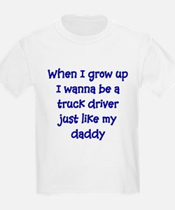 I Wanna Be A Truck Driver Kids T-Shirt