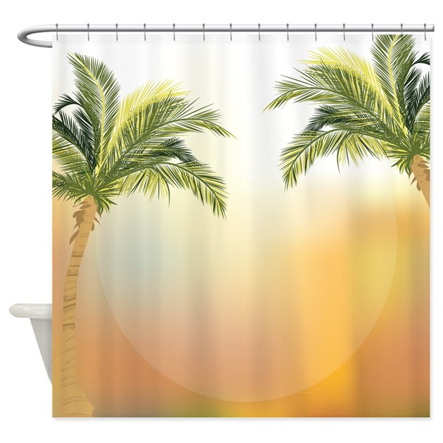 Beautiful tropical palm trees Shower Curtain by YourPerfectHome