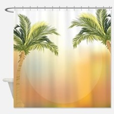 Beautiful tropical palm trees Shower Curtain