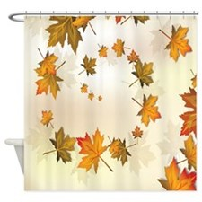 Beautiful Nature Fall Autumn Leaves Shower Curtain